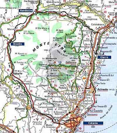 Sizilien Karte ätna.Bahn Web Sizilien Mit Der Circumetnea Rund Um Den ätna